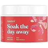 Asutra, Skin Rejuvenator, 100% Pure Dead Sea Bath Salts, Naturally Soften Skin, Organic Grapefruit, Juniper, Cypress Essential Oils, Rich in Healing Minerals, 16oz