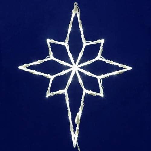 Amazon Com Vickerman 35 Lights Led Star Of Bethlehem Window Decor White Home Kitchen