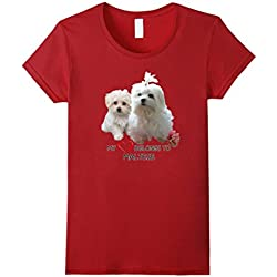 Maltese Dog Lovers T-shirt Dogs Fan Gift Quote