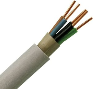 Kopp 153025000 NYM-J 5 x 1,5 mm² Feuchtraum-Kabel, 25 m-Ring