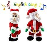 Burst Twisted Wiggle Hip Twerking Shaking Hips Santa Claus Singing Electric Toy for Kids English Song