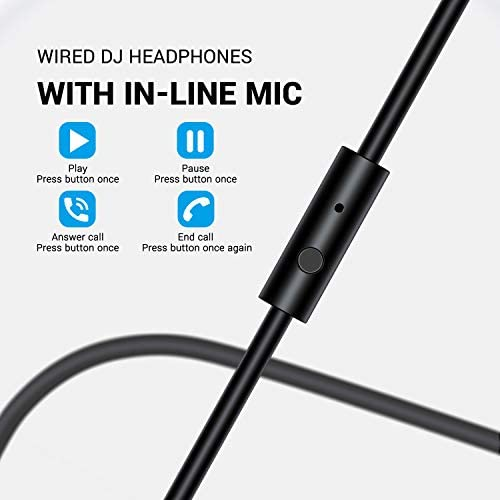 bopmen Computer Headset with Microphone - Wired Gaming Headphones with Boom Mic, On-Line Volume Control & Share-Port Over Ear Headsets for Office PC Laptop Phone Call PS4 Xbox One DJ 14