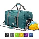 24' Foldable Duffle Bag 60L for Travel Gym Sports Lightweight Luggage Duffel By WANDF, Dark Green