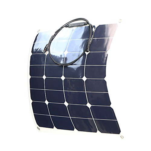 ALLPOWERS 50W Solar Panel Water/ Shock/ Dust Resistant Power Solar Charger for RV, boat, cabin, tent, or any other irregular surface