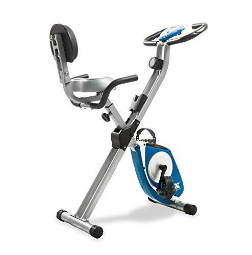 XTERRA Fitness FB350 Folding Exercise Bike, Silver