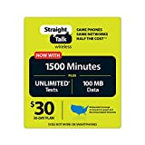 Straight Talk $30 30 Day Service Card