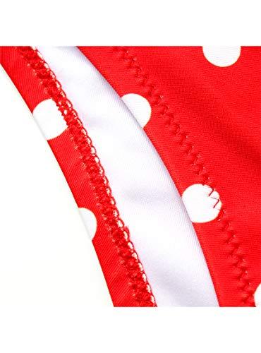 JFan Costume da Bagno Donna a Vita Alta in Due Pezzi Stampa Floreale Bikini Halter Regolabile Costume da Bagno
