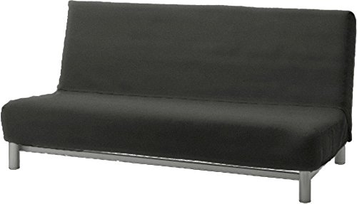 The Flax Polyester Beddinge Lovas Sofa Bed Cover Replacement is Custom Made for IKEA Beddinge Sleeper, A Quality Futon Slipcover Replacement (Dark Gray)