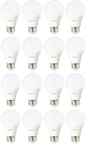 AmazonBasics 60 Watt Equivalent, Daylight, Non-Dimmable, A19 LED Light Bulb | 16-Pack
