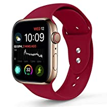 Sworddy Sport Band Compatible with Apple Watch 38MM 40MM 42MM 44MM,Soft Silicone Replacement Strap Compatible for Apple Watch Series 4/3/2/1