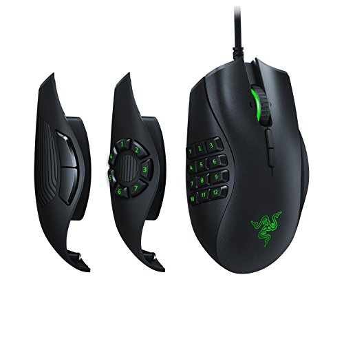 Razer Naga Trinity - Chroma Gaming Mouse Interchangeable Side Plates - Up to 19 Programmable buttons