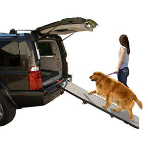 Pet Gear Tri-Fold Ramp 71 Inch Long Extra Wide Portable Pet Ramp for Dogs/Cats up to 200lbs, Patented Compact/Easy Fold with Safety Tether 6