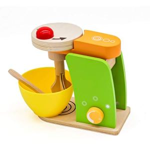 kitchen accessories mixer playsets wooden blender toys for Young kids. Imagination appliance. Real Food House Creative cooking set for children. Role play pretend. Make cake utensils kits bowl 41ELYBZdHEL