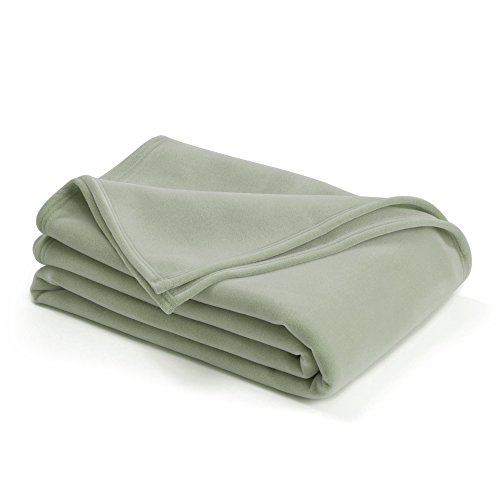 The Original Vellux Blanket – Full/Queen, Soft, Warm, Insulated, Pet-Friendly, Home Bed & Sofa – Moss