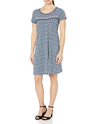 Amazon Brand – Lark & Ro Women's Short Sleeve Scoop Neck T-Shirt Dress