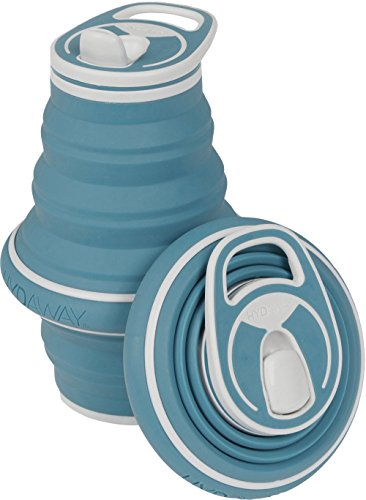 HYDAWAY Collapsible Pocket-sized Travel Water Bottle - 21 oz - Storm Blue