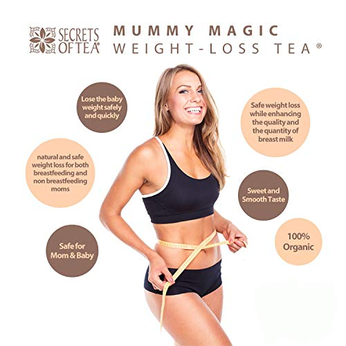 Mummy Magic Sweet Cinnamon & Moringa Detox Tea + 100% Organic + Supports Metabolism + Weight Loss for Women + Digestion with Rooibos Tea, 20 Biodegradable Sachets- Up to 40 Servings 5