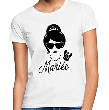 Spreadshirt-Future-Marie-Enterrement-Vie-EVJF-T-Shirt-Femme