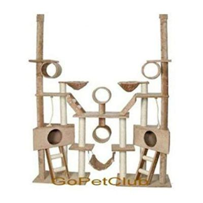 Go Pet Club Cat Tree Condo Furniture, Beige
