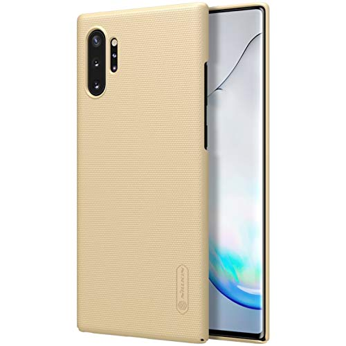 "Nillkin Case for Samsung Galaxy Note 10 Plus + (6.8"" Inch) / Samsung Galaxy Note 10 Plus 5G Super Frosted Hard Back Cover PC Gold Color 101"