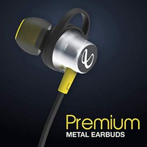 Infinity (JBL) Glide 120 Metal in-Ear Wireless Earphones, with Bluetooth 5.0 and IPX5 Sweatproof (Black and Yellow)