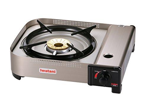 Iwatani Corporation of America 35FW butane stove, 3.7' H x 11.9' W x 13.3' L, Metallic