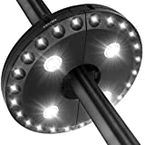 Patio Umbrella Light LATME Cordless 28 LED Night Lights 3 Lighting Mode at 220 lux Battery Operated Umbrella Pole Light for Patio Umbrellas,Outdoor Use or Camping Tents