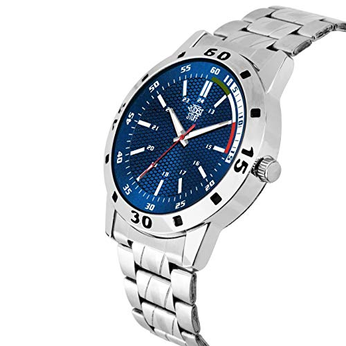 SWADESI STUFF Analogue Men's Watch (Multicolored Dial Silver Colored Strap) TODAY OFFER ON AMAZON