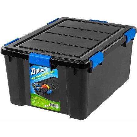 Ziploc Black WeatherShield Storage Box, Large (3)