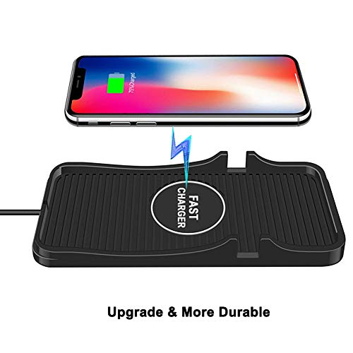 Wireless car Charger, 10W Wireless Charging Mat Pad for Car, Dashboard Phone Mount, Anti-Skid Car Charging Stations for iPhone and Samsung Qi Enabled Devices