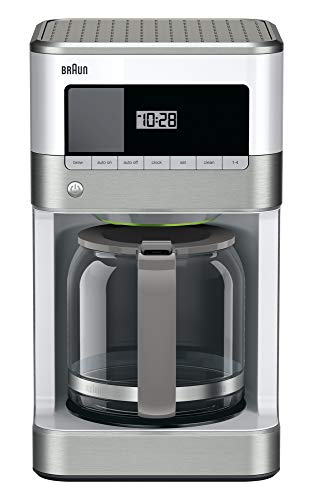 Braun KF6050WH Brewsense Drip Coffee Maker, 12-Cup (white)