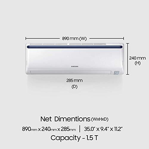41Ew5H49GkL - Samsung 1.5 Ton 3 Star Inverter Split AC (Alloy AR18NV3JLMCNNA Blue Strip)