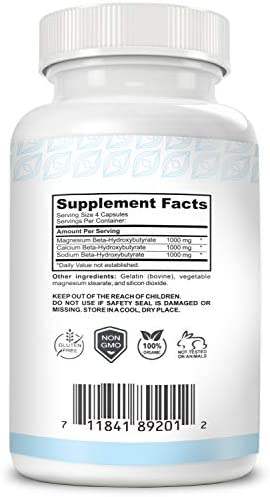 Keto BHB Supplement Made in USA Keto Pills Help Promote Weight Loss -Ketones Supplement Burns Fat Rather Than Glucose (60x Keto Pills) 4