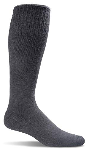 Sockwell Men's Circulator Graduated Compression Socks, Black Solid, Large/X-Large