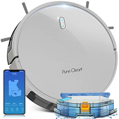 Smart WiFi Robot Vacuum Cleaner - 2700Pa Strong Suction - Self Charging Robo Vacuum Cleaner - Mobile App Alexa & Gyroscope Navigation Mapping, 2600mAh 120 Min Run Time