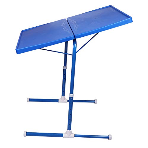 MULTI - TABLE Dual Side Multi Purpose Adjustable Foldable Utility Table for Laptop, Study, Kids, Office, Meal (Blue) 5