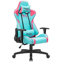 JUMMICO Gaming Chair Adjustable Racing Chair Halo Series Specialty Design Ergonomic Comfortable Swivel Computer Chair…