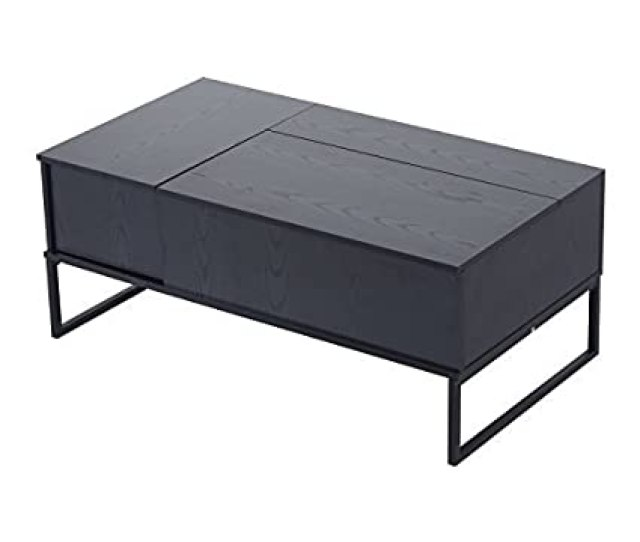 Amazon Com Homcom  Modern Lift Top Coffee Table Black Kitchen Dining