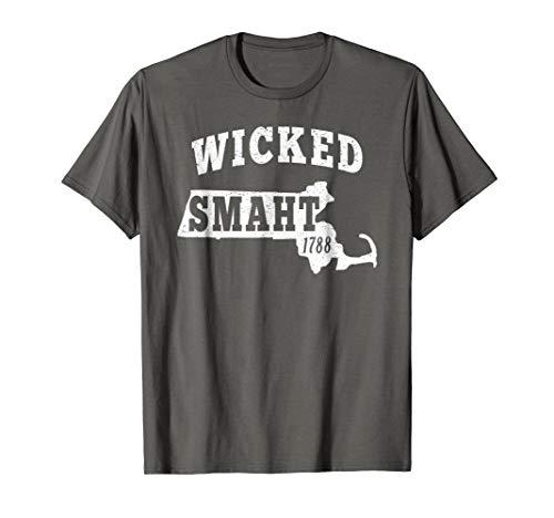 Wicked Smaht Tshirt Boston Massachusetts Chowda t shirt