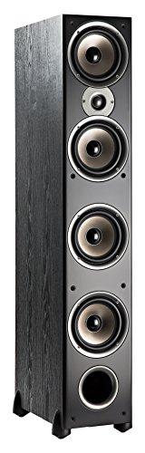 Polk Audio Monitor 70 Series II Floorstanding Speaker - Bestseller for Home Audio   Big Sound,   Incredible Value   1 (1-inch) Tweeter and 4 (6.5-inch) Woofers   Black, Single