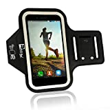 iPhone 8/7 Plus Running Armband (Fingerprint ID Access). Sports & Exercise Phone Case Holder fits Small - Large Arms