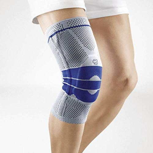 Bauerfeind - GenuTrain - Knee Support Brace - Targeted Support for Pain Relief and Stabilization of The Knee - Size 3 - Color Titanium