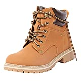 Forever Women's Ankle High Combat Hiking Boots,Color:Tan Pu,Size:6