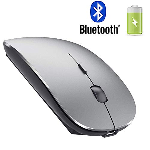 Rechargeable Bluetooth Mouse for Laptop Bluetooth Mouse for MacBook pro Air OS Windows Laptop MacBook Mac Gray
