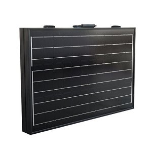 ECO LLC 100W Mono Folding Foldable Solar Panel Complete Kit for 12V Battery Off Grid