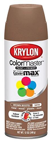 Krylon K05356202 Brown Boots 'Satin Touch' Decorator Spray Paint - 12 oz. Aerosol