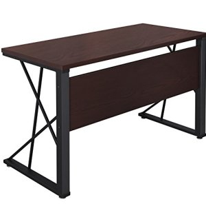 SONGMICS Computer Desk Wood Top Office Desk Workstation PC Laptop Study Table for Home Office ULWD12Z