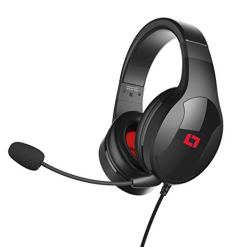 Lioncast LX20 Gaming Headset for PC, PS4, Xbox One, Nintendo Switch, Mac and Laptop (Ultralight 246g, stereo sound, detachable microphone, over ear headphone, jack), Black