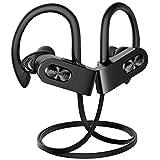Mpow Flame2 Bluetooth Headphones Sport, 12Hrs & Bluetooth 5.0 Wireless Sport Earphones, IPX7 Waterproof Running Headphones w/CVC 6.0 Noise Cancelling Mic, Bluetooth Earphones w/Comfort-Slanting,Black