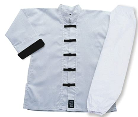 White With Black Frogs Complete Kung Fu Uniform